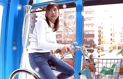 マジックミラー号×アクメ自転車 ママチャリ人妻